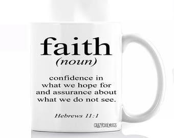 Faith Definition Coffee Mug