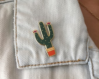 Cactus Hard Enamel Pin - Cactus Pin - Cactus - Hard Enamel Pin - Enamel Pin - Cute Cactus - Gift - Cactus Gift
