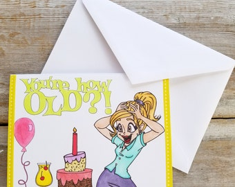 Funny Birthday Card - Funny Birthday Card Best Friend - Colorful Birthday Card - Funny Best Friend Card -Birthday Card for Her