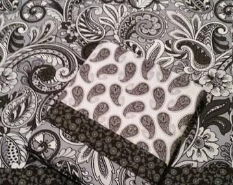 Pillow Cases, Set of 2 Standard Cotton Pillow Cases, Standard Pillow Cases, Pillow Case Set, Set of Pillow Cases Black White Grey PillowCase
