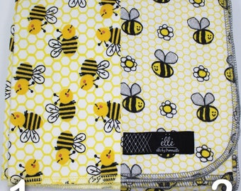 "Bumble Bee Homeycomb Extra Large Receiving Blanket - 36"" x 42"""