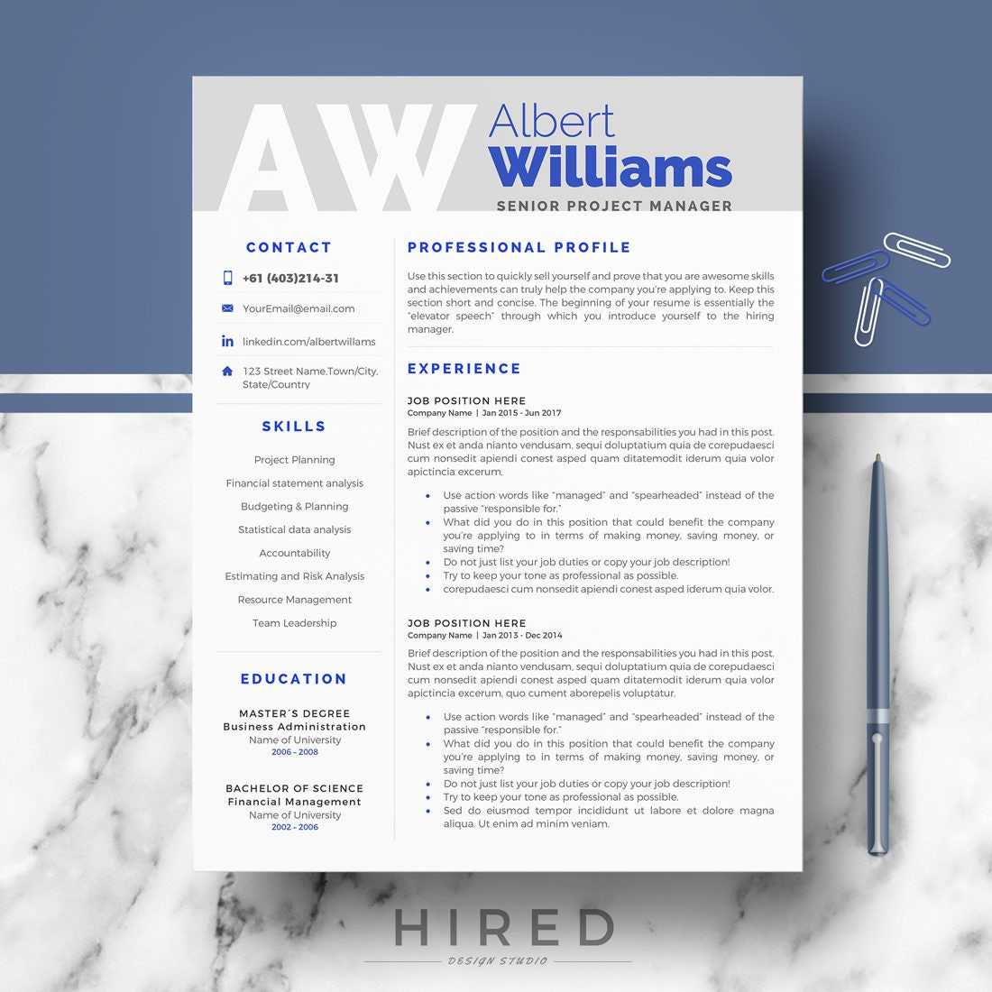 professional resume template modern resume cv templates for