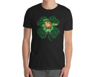 Dabbing leprechaun Saint St patricks day shamrock lucky irish charm st pattys paddys day clover st patty day shirt green shamrock shirt