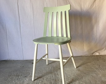 vintage Chair revisited, sea green and white