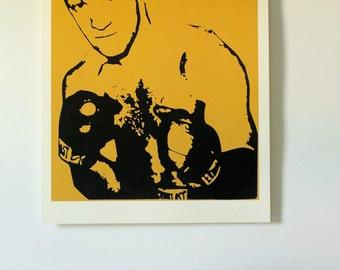 Rocky Marciano Urban Art, Urban Decor, Minimalist Art, Gift, Boxing Poster, Housewarming Gift, Boxing, Boxing Print, Boxing Decor, Wall Art