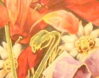 Beautiful Vintage Floral Postcard