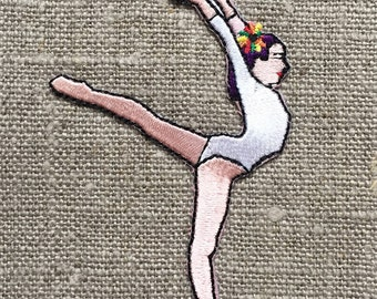 Gymnaste, Gym, patches, fusible, thermocollant, trendy embroidery, broderie tendance, accessoire.