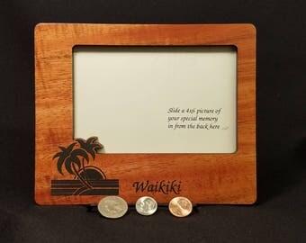 Hawaiian Koa wood frame Waikiki