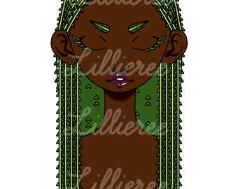 Weeping Willow Girl Art Print