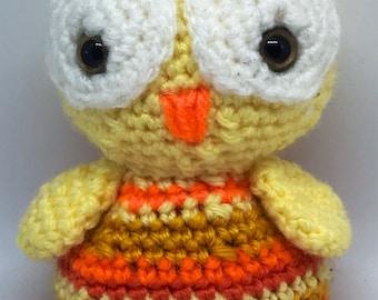 Yellow Big Eyed Baby Owl