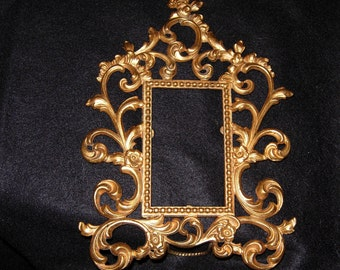 antique french brass picture frame 1894