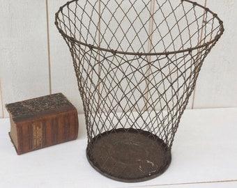Wire Waste Basket waste basket | etsy