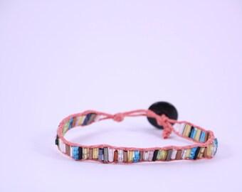 Multi coloured wrap bracelet, friendship bracelet, wrap bracelet, ladies bracelet, beaded bracelet