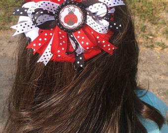 Lady Bug bows,Lady Bug girls hair accessories,Lady bug birthday gifts,Lady bug bottle cap hair accessories,Birthday party hair accessories