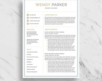 professional resume template for word modern resume design cv template for word 2 - 2 Page Resume Template