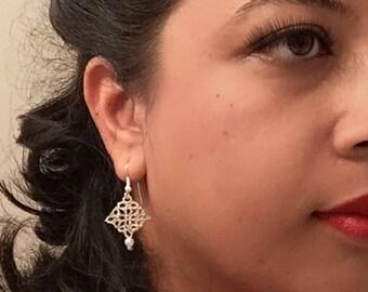 Lace Tatting Earrings 2