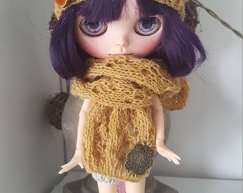 Hat and scarf for Blythe, Pullip, Dal