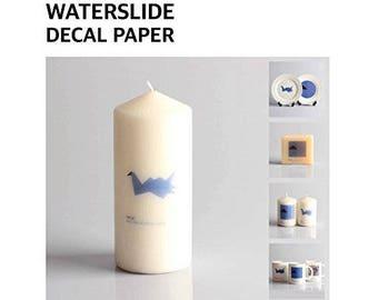 """Sunnyscopa Inkjet Waterslide Decal Paper 8.5""""X11"""" 10 sheets"""