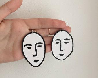 Matisse Face Earrings