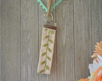Leaf Key Fob, Key Ring, Key Chain, Wristlet