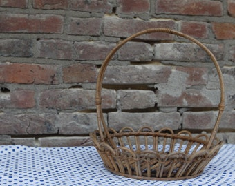 Wicker fruit basket / - rattan.