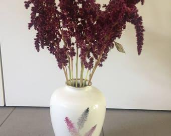Vintage vase, 1950s, gold rim, Alka