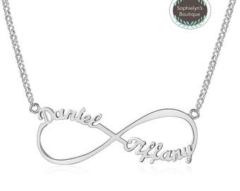 Infinity Necklace - Personalized Names