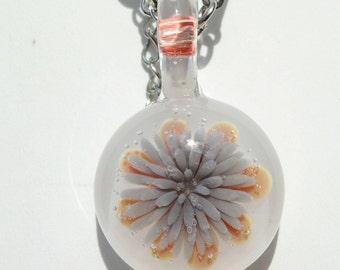 heady sea anemone borosilicate glass compression pendant