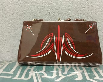 Vintage pinstriped purse