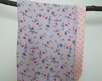 Flowers and dots baby blanket