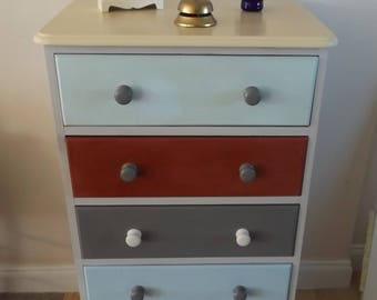 Shabby Chic 5 Drawer Chest of Drawers