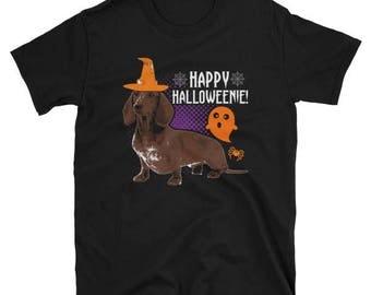 Happy Halloweenie Shirt - Funny Dachshund Halloween T-Shirt