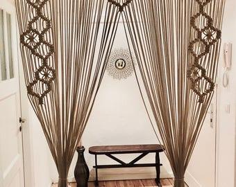 Macrame Curtain, Room Divider, Window Treatment, Wedding Backdrop, Wall Hanging