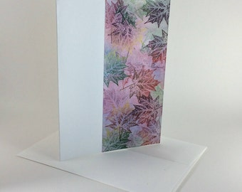 Maple tapestry no. 8 blank card, individually handmade, not a reproduction: A7, notecards, fine cards, SKU BLA71006