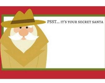 Secret Santa Printable Gift Tag - Instant Download