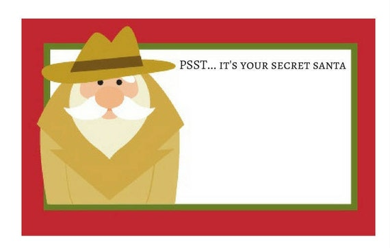 It's just a picture of Wild Secret Santa Gift Tags Printable Free