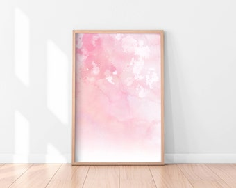 Pink Wall Art, Pink Digital Print, Abstract Wall Art, Printable Wall Art, Digital Download, Instant Download Printable Art, Printable Poster