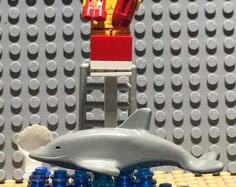 Lego Lifeguard at the Beach.