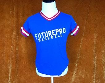 Vintage 1990s, Future Pro Wilson Baseball T-shirt, Ringer Tee