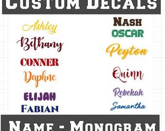 Name Decal - Yeti Decal - Custom Vinyl - Vinyl Lettering - Tumbler Decal - Monogram - Name Sticker