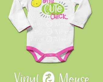 Cute Easter Chick SVG Cutting File, Cricut Cameo svg dxf, Baby Chick svg, Easter svg, Baby Girl Easter svg, Easter dxf, Easter Iron On