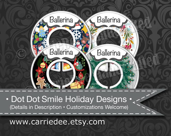 Dot Dot Smile Holiday Dividers, Styles & Size Clothing Divider Sets Available, DotDotSmile Merchandiser, Christmas - Choose From 4 Designs