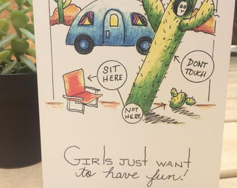 Girls Just Want to Have Fun Card
