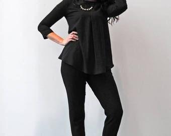 Loose Top / Pleated Top / Tunic Top / Oversize Top / Oversized Blouse / Eco Fashion / Organic Cotton / Organic Fashion / Etsy Fashion / Eco