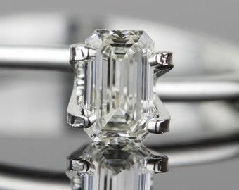 1/2 carat .50 carat Loose Emerald Cut Diamond - 5.9mm x 3.58mm SI1 J - Natural White Diamond - Purchase Loose or Customize