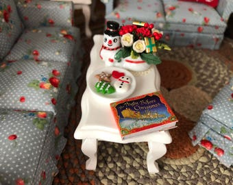 Miniature Book, Night Before Christmas, Color Pages and Text Throughout, Dollhouse Miniature, 1:12 Scale, Mini Book, Holiday Book