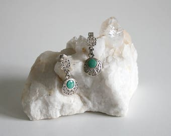 Aztec Malachite Earrings