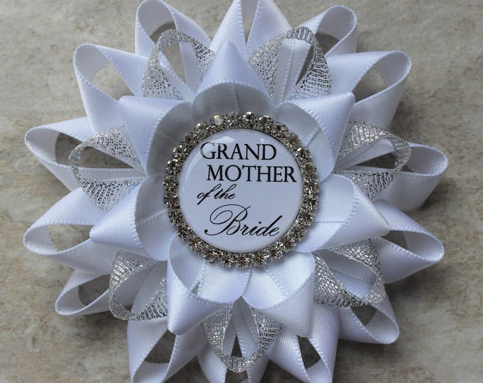 Grandmother of the Bride Gift, Bridal Shower Pins, Bridal Shower Decorations, Bachelorette Party Decorations, Grandmother of the Groom Gift