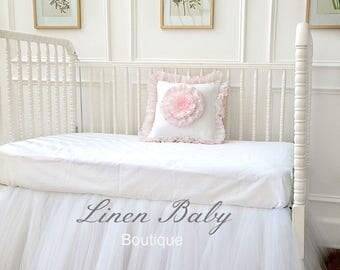 White Tulle Crib Skirt