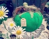 HANDMADE GREEN TOMATO~ Vintage~ Vegan~ Vegetable~ Primitive~ Summer~ Garden~Fried Green Tomato~ Fried Green Tomato Movie~ Farmhouse Decor